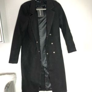 PRETTYLITTLETHING BLACK COAT NWT